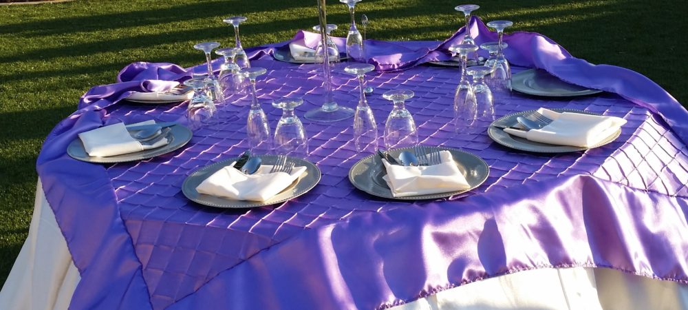 Wedding Tablescape - Brother 2 Brother Catering - Riverside CA