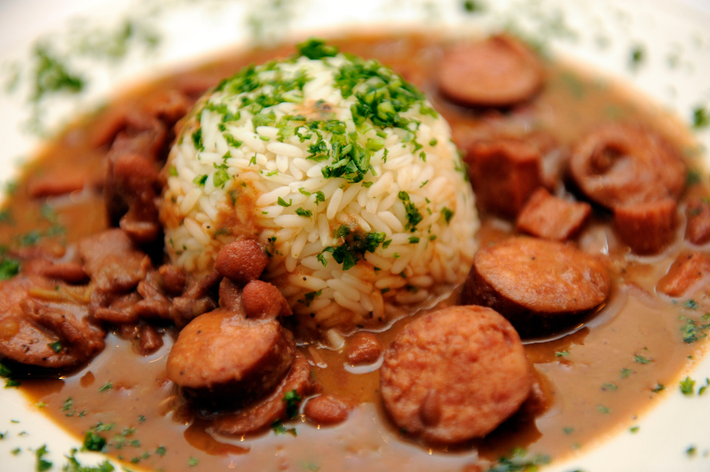 Creole Red Beans and Rice with Smoked Sausage