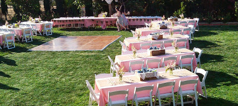 Outdoor Wedding Layout - Riverside - Professional Catering Services